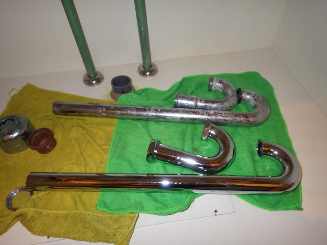 洗面排水トラップ 新旧部品