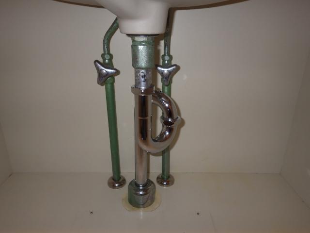 洗面排水トラップ  交換後